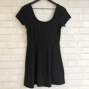 Forever 21 Basic Black Scoop Neck T-Shirt Dress